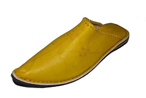 Marrakech Accessoires Orientalische Leder Schuhe Pantoffeln Hausschuh Slipper - Herren/Damen/Unisex - 905587-0003, Schuhgrösse:43