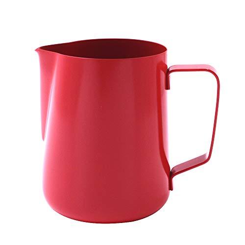 Coffee Tree Espresso Coffee Milk Pitcher Non-stick Coating Milk Pitcher Milk Frothing Pitcher Red 20oz