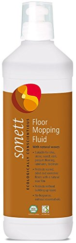 Sonett Organic Floor Cleaner 17 fl oz / 500 ml -Protects Waxed, Oiled and Varnished Floors with a Natural Wax Film Without Build-up. for Tiles,Stone,Wood,Cork,parquets,laminates,Linoleum and Plastics