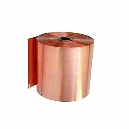 Tong gu 0.1x1m Pure Copper Foil Metal Copper Sheet Plate Guillotine Cut Material Two 0.02-0.05mm Thickness (0.05mm)