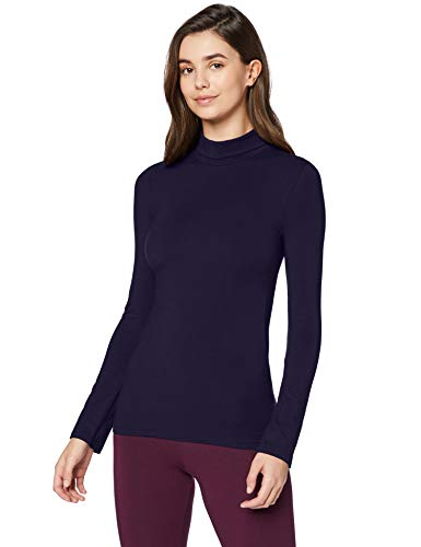 Marca Amazon - Iris & Lilly Camiseta térmica Mujer, Azul (Navy), S, Label: S