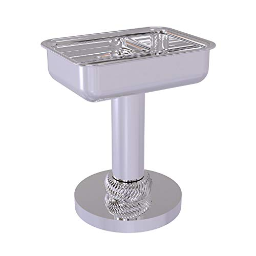 Allied Brass 956T Vanity Top Twisted Accents Soap Dish, Polished Chrome