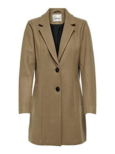 Only ONLCARMEN Wool Coat CC OTW Abrigo de lana, marrón claro, M para Mujer