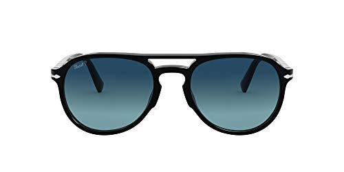 Persol 0PO3235S Occhiali, Black/Blue Shaded, 55 Unisex-Adulto