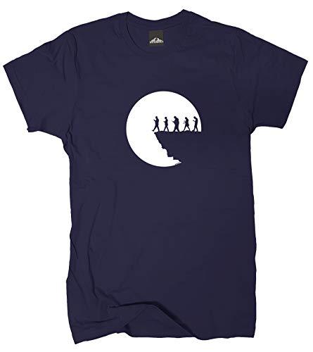 Wolkenbruch® T-Shirt Am Abgrund, Navy, Gr.M