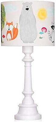 LAMPS & COMPANY 5902360484634 Lampe sur pied, PVC, Coton, Bois, Beige, Gris, Vert