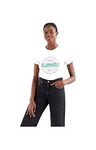 Levi's® Damen T-Shirt The Perfect Tee Circle Logo Weiss (10) S