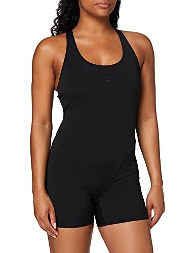 Speedo Essential Endurance+ Badeanzug Damen Sport, Schwimmanzug Damen, Sportbadeanzug Schwarz, Größe 36