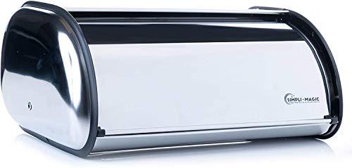 Simpli-Magic Bread Box Stainless Steel Breadbox, X-Large