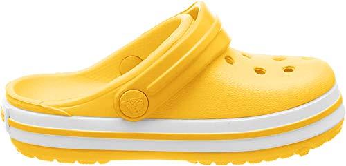 crocs Unisex-Kinder Crocband K Clogs, Gelb (Lemon), 28/29 EU