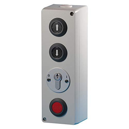 BAUER - Schlüsselschalter AP Zu/Auf/Stop, Zylinder - Torantrieb, Schranke, Aufzug