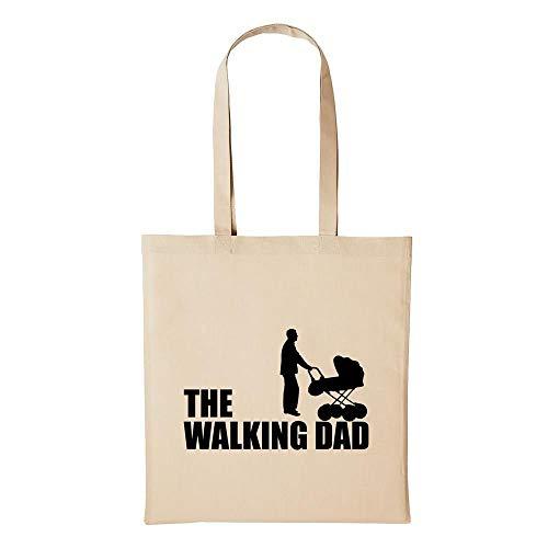 Hellweg Druckerei Baumwolltasche Jutebeutel Bedruckt The Walking Dad Laufen Papa