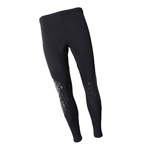 non-brand 1 Par de Pantalones de Neopreno de Buceo de Kayak Accesorio de Deportes para Mujeres Lavable de Kayak - Negro, M