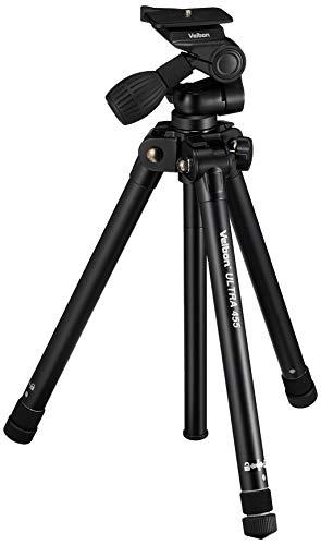 Velbon 455 Digitales/cámaras de película Negro tripode - Trípode (Digitales/cámaras de película, 2,5 kg, 3 Pata(s), 162 cm, Negro, 2,4 cm)
