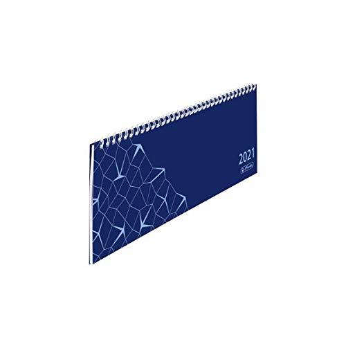 herlitz 50030040 Schreibtischkalender Compact 2021, 1 Woche = 1 Seite, 1 Stück