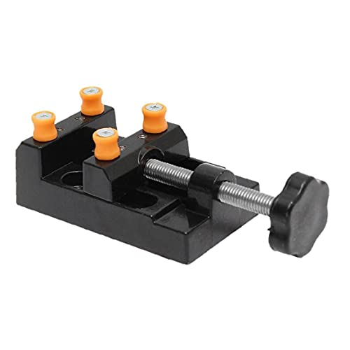 Mini Prensa de taladro del tornillo de la abrazadera plana banco del vector vice para la joyería de la nuez Nuclear reloj DIY de la escultura de talla manual de hardware de herramientas
