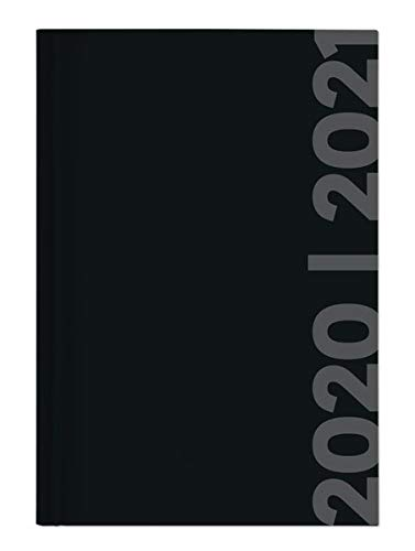 Collegetimer Black Label 2020/2021 - Schüler-Kalender A5 (15x21 cm) - schwarz - Day By Day - 352 Seiten - Terminplaner - Notizbuch - Alpha Edition (Collegetimer A5 Daily)