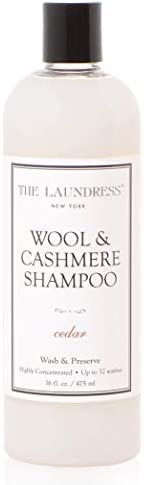 The Laundress New York - Wool & Cashmere Shampoo, Allergen-Free, Adds Scent & Removes Odor, Cedar Scented, 32 washes, 16 FL Ounce