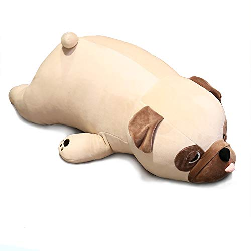 Bulldog Plush Toy, 20' Stuffed Animal Throw Plushie Pillow Doll, Soft Fluffy Puppy Dog Hugging Cushion - Present for Every Age & Occasion