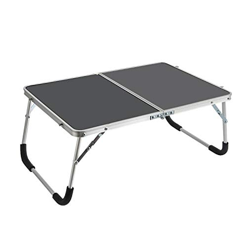Outry Low Folding Camping Table, Lightweight Picnic Table/Travel Table for Outdoor and Lap Standing Desk for indoor Use (Black)