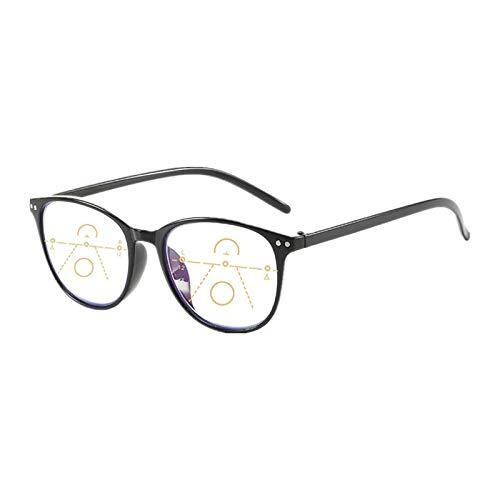 Suertree bifokale Lesebrille Antiblaulicht Brille unisex für Damen und Herren Antimüdung Lesehilfe Multi Fokus Sehhilfe Presbyopie Korrektur 1PC +2.00 TZ6008