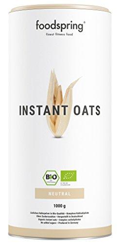 foodspring Bio Instant Oats, 1000g, Il weight gainer più naturale che conosci