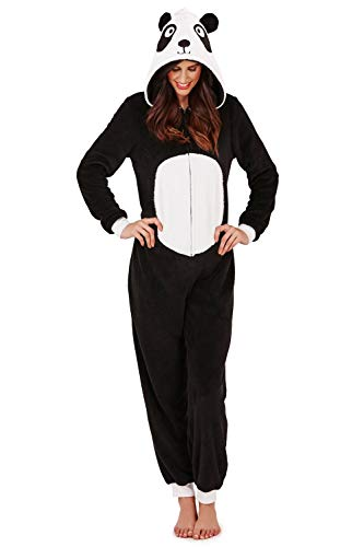Trueboy Loungeable Damen & Nette Kinder 3D Schneemann Alles in Eins - Erwachsene - Panda, Erwachsene - Größe XL - UK 20-22