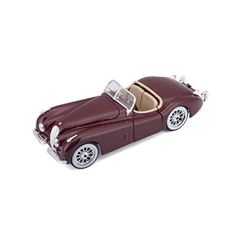 BBurago - 22018 - Voiture sans pile - Reproduction - Jaguar Xk 120 Roadster - échelle 1/24 Coloris Aleatoire