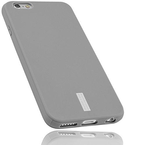 mumbi Hülle kompatibel mit iPhone 6 / 6S Handy Hülle Handyhülle, grau mit grauem Streifen
