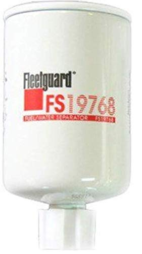 FS19768 Fleetguard Fuel Filter, Water Separator (Pack of 2)