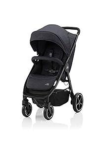 BRITAX RÖMER Carrito Bebe B-AGILE M Compacto y Plegable con una Mano Niños de 0 a 22 kg desde el Nacimiento hasta los 4 Años, Black Shadow