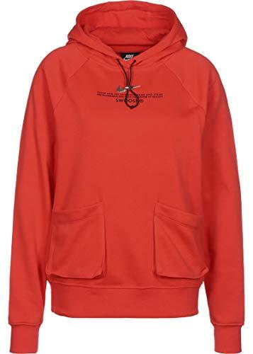 Nike Sudadera cerrada con capucha para mujer de algodón perchado CORAL L