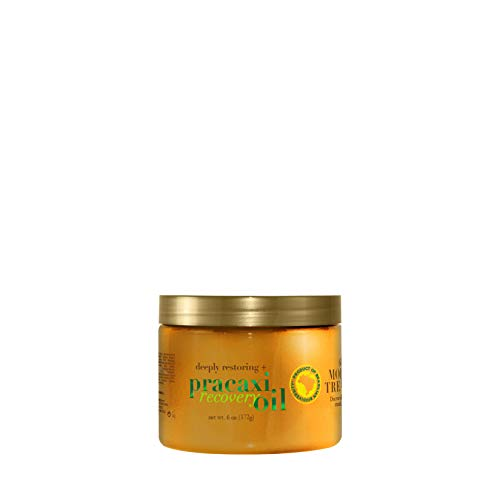 OGX Deeply Restoring + Pracaxi Recovery Oil Anti-Frizz Deep Conditioning In-Shower Moisture Treatment with Murumuru Butter, Sulfate-Free Surfactants Hair Mask to Nourish & Restore, 6 Ounce