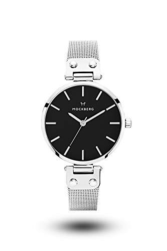 Mockberg Damen Digital Quarz Uhr mit Edelstahl Armband MO1604