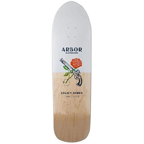 Arbor Pistola 19 Longboard, Erwachsene Unisex, Weiß/Natur (Weiß), 33,5 Zoll