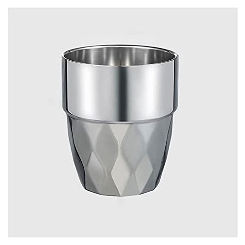 Fengshop Taza de café, taza de agua de acero inoxidable 304 para el hogar, anticaída, para niños, gárgaras, taza para beber, taza de cerveza, vaso de café (color: A)