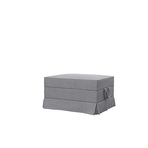 Soferia Fodera di Ricambio per Ikea EKTORP poggiapiedi, Tela Elegance Light Grey, Grigio