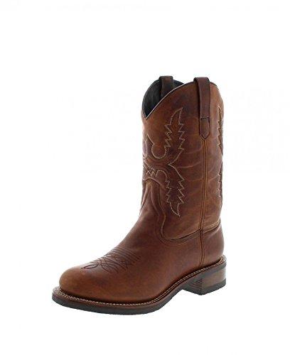 Sendra Boots 14340 - Stivali da cowboy da uomo con Thinsulate, Marrone (Tang), 45 EU