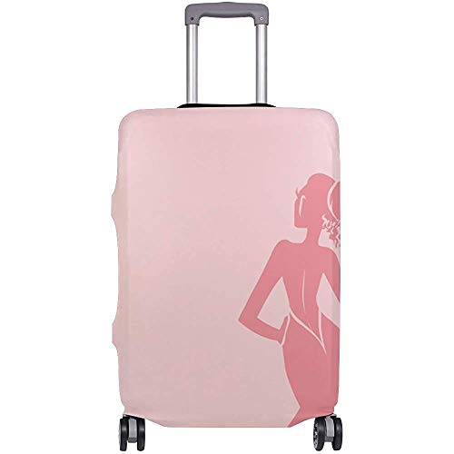 Travel Luggage Cover Pink Bride Suitcase Protector Baggage Case Dustproof Stretchy Fits Size S