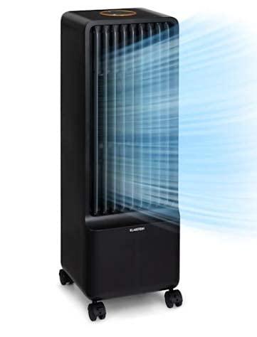 Klarstein Maxflow Smart - Raffreddatore Evaporativo, Ventilatore, Umidificatore 3in1, Wi-Fi: AppControl, 80 W, 700 m³ h, 4 Velocità, 3 Modalità, Timer: 24 h, Serbatoio: 5 L, Nero