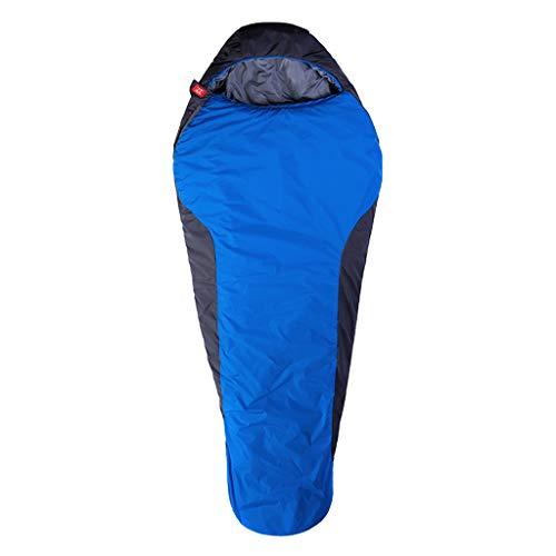 CATRP-Sac de couchage Momie pour Personnes Âgées, Voyage De Camping, Portable, Adulte, Extérieur, 2 Couleurs (Color : Blue)
