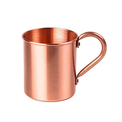 Encantos del arte de DIY Sólido puro de cobre plateado Moscow Mule taza taza de té taza de café de 420 ml / 15 oz Accesorios de bricolaje para regalos de chicas adolescentes