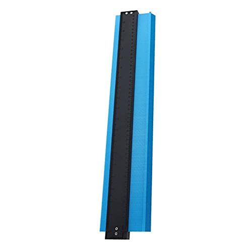Perfil Gauge Gauge duplicador de 20 pulgadas de contorno con la cerradura de múltiples funciones Herramienta de toma irregular contorno copia para el azulejo de la madera azul