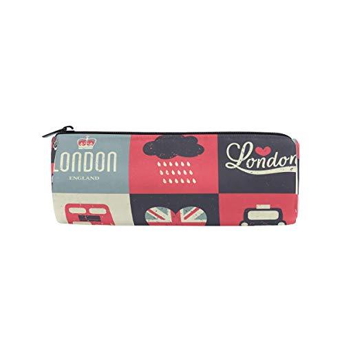 BIGJOKE Federmäppchen, Londoner Flagge, britische Federmäppchen mit Reißverschluss, Tasche für Make-up-Pinsel für Mädchen, Kinder, Schule, Studenten, Schreibwaren, Bürobedarf
