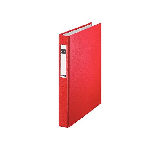 Leitz 42120025 Ringbuch Standard, A4, PP, 4 Ringe, 25 mm, rot