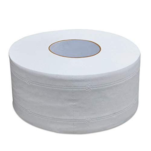BLEUNUIT Rollo de Papel, Grueso 4 Capas de Papel higiénico Grande en Relieve sin Papel de baño Jumbo Fluorescente