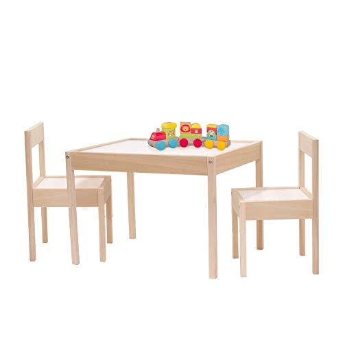 Kit Mobiliario Mesa y Sillas Infantiles Montessori Set 2 Sillas 1 Mesa Mini Modernas