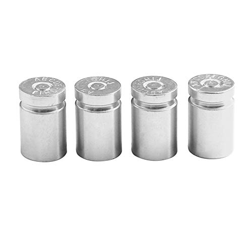 KKmoon 4 Stücke Auto Ventilkappen Universal Reifen Ventilkappen Abdeckung für Auto Motorrader PKW LKW Offroad Silber