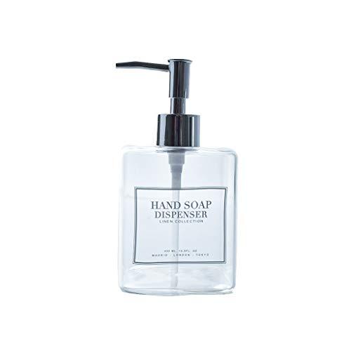 Dispensador de jabón para baño Vidrio transparente Emulsión dispensador de jabón dispensador,...