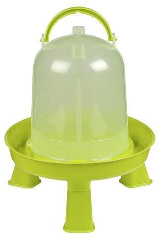 Kerbl Kunststoff-Tränke mit Füßen mit Griff und Bajonettverschluss, für Geflügel (Küken/Hühner/Enten) (5,0 l)